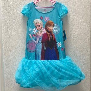 ♡ NWT Disney Store Frozen Anna Elsa Nightgown